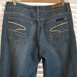 Seven Premium Denim Womens Flare Jeans